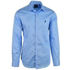254624 POLO Custom Fit Greig Mens Shirt Blue P6002015110400506 V1