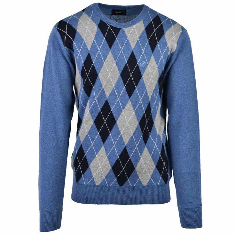BRE06BL BRENTWOOD STRATFORD C NECK JSY BLUE S0502015111000027 V1