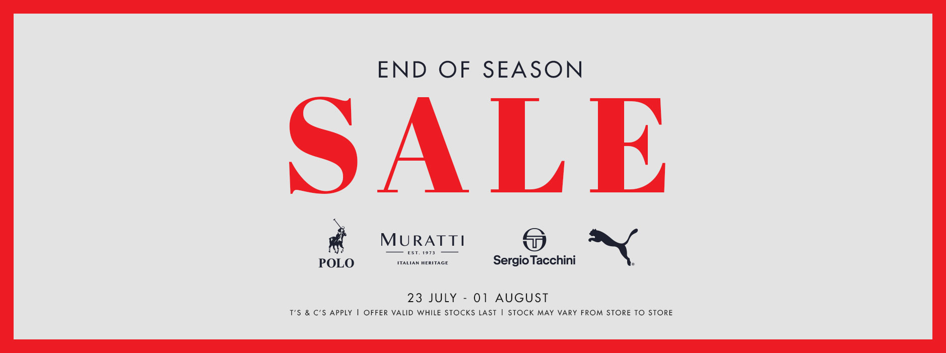 JC End of Season Sale Web Banner