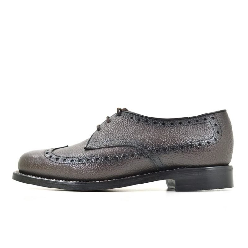 JNM01CB JOHNSTON AND MURPHY LEATHER LACE UP WITH TUSSEL BROWN 16107 V1