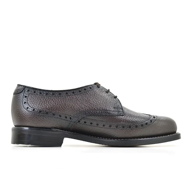 JNM01CB JOHNSTON AND MURPHY LEATHER LACE UP WITH TUSSEL BROWN 16107 V2