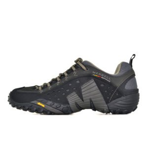 MER01B MERRELLM INTERCEPT LEATHER SHOE BLACK J73703 V1
