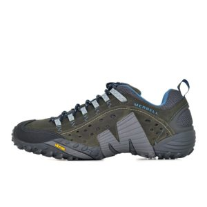 MER01G MERRILL INTERCEPT LEATHER SHOE GREY V1