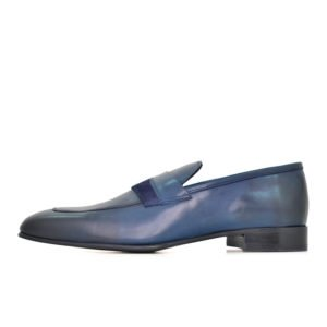 MUR34N MURATTI LEATHER UPPER SHOE NAVY CA21 05A V1