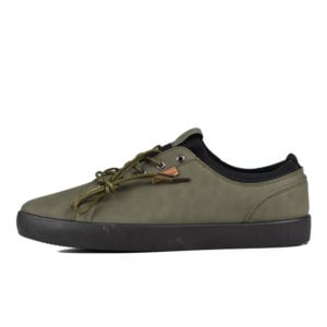 PCOL PIERRE CARDIN ROGER LACE UP CASUAL PU SHOE OLIVE MONO PCM V