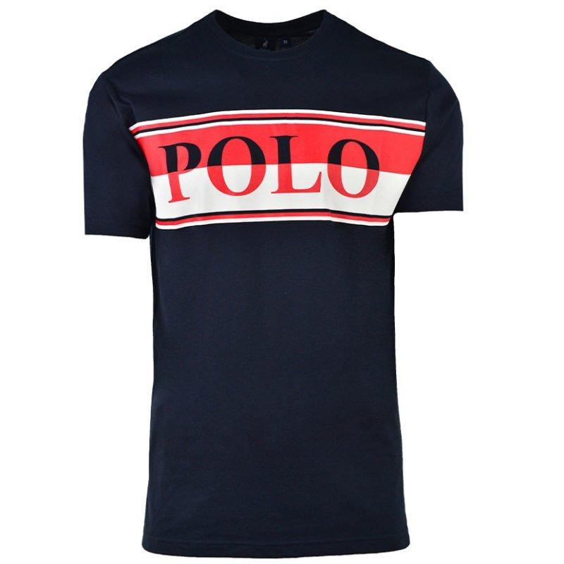 POL338N POLO PETER CREW NECK LOGO NAVY P6002015110100516 V1