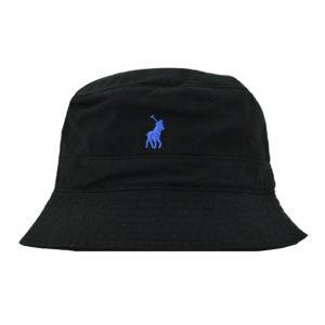 POLB POLO SYDNEY TWILL BUCKET HAT BLACK P V