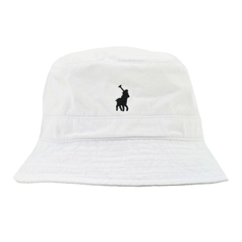 POL368W POLO SYDNEY TWILL BUCKET HAT WHITE P6003015418800033 V1