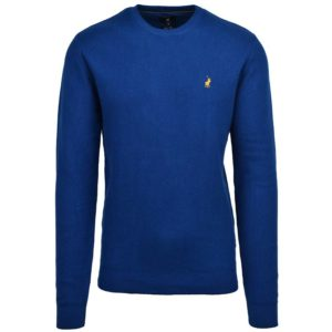 POL405BL POLO LEWIS TEXTURED PULLOVER BLUE P6002015111000467 V1