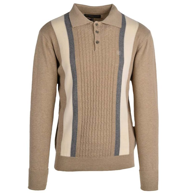 PRE07WH PRE FANCY KNITTED GOLFER CABLE WHEAT PL2 V1