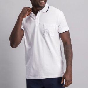 SER107W SERGIO TACCHINI Pocket Logo Golfer WHITE ST MA 0082 V1