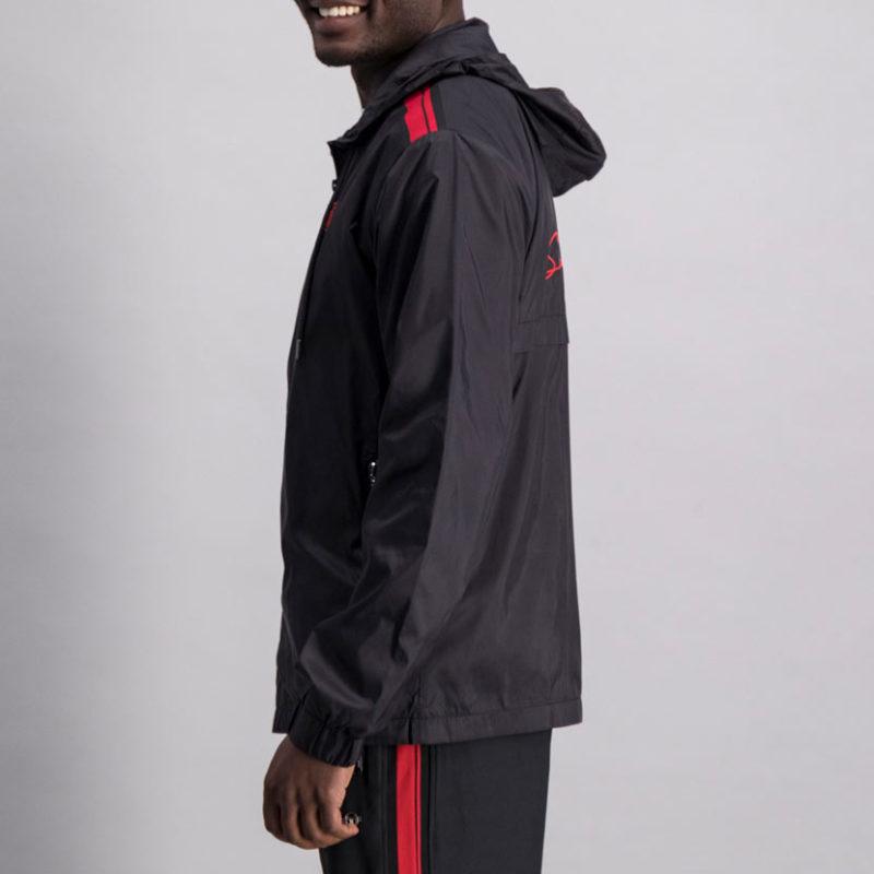 SER115AN SERGIO TACCHINI acquard Inset Jacket BLACK ST MA 0070 V2