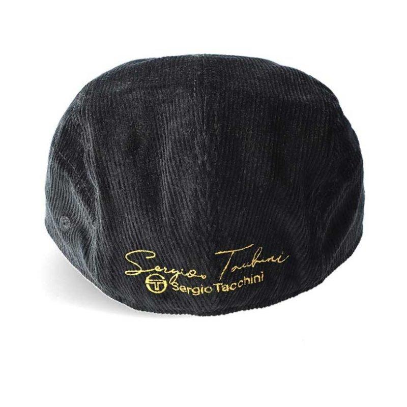 SER84AN SERGIO TACCHINI FLAT CAP ANTHRACAITE BLACK STW21 061C V3