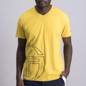 SER93MU Large Hem Logo V neck T shirt ST MA 0058 TV 7