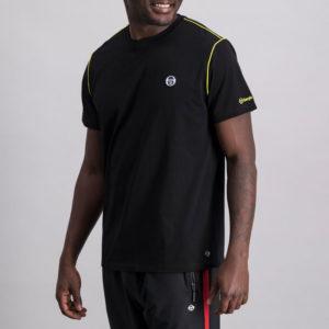 SER95AN SERGIO TACCHINI Piped Core T shirt BLACK ST MA 0060 V1
