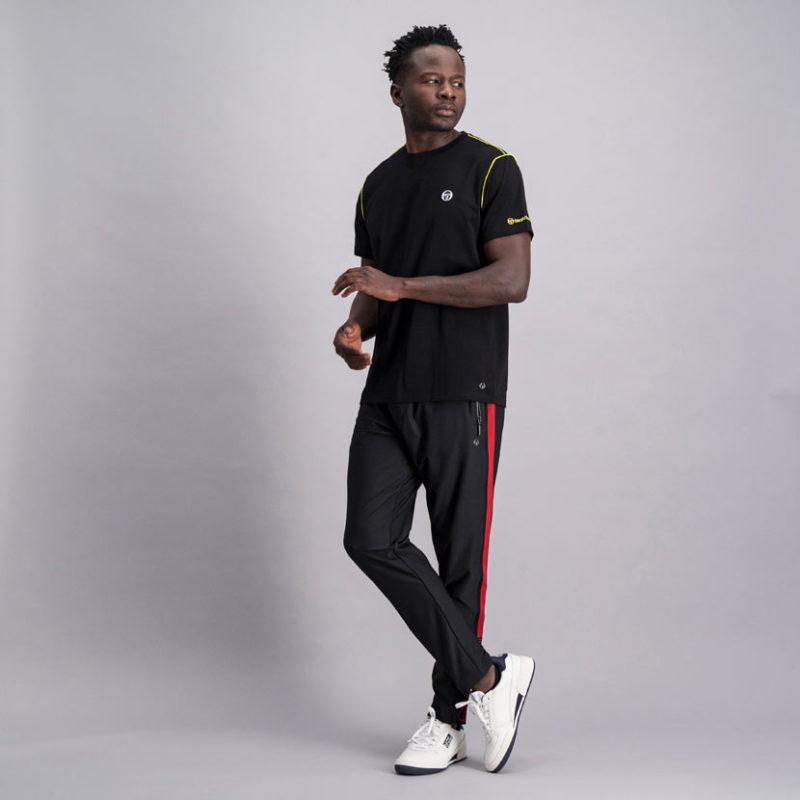 SER95AN SERGIO TACCHINI Piped Core T shirt BLACK ST MA 0060 V2