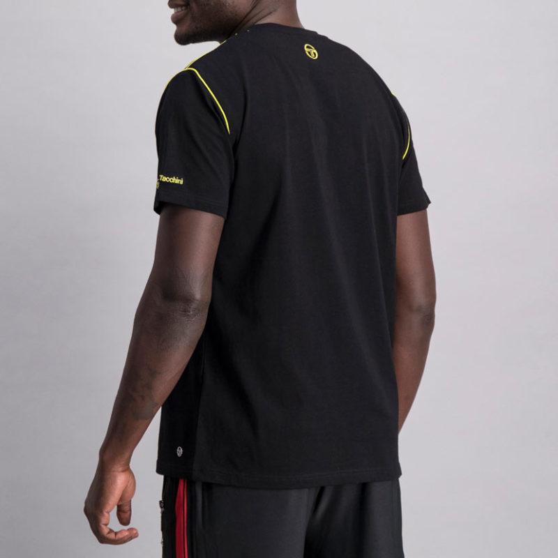 SER95AN SERGIO TACCHINI Piped Core T shirt BLACK ST MA 0060 V4