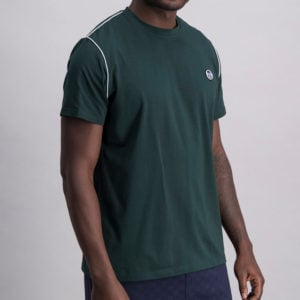 SER95PG SERGIO TACCHINI Piped Core T shirt GREEN ST MA 0060 V1