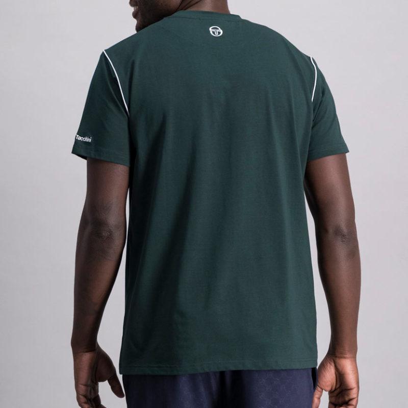 SER95PG SERGIO TACCHINI Piped Core T shirt GREEN ST MA 0060 V4